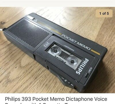 Philips 393 Pocket Memo Dictaphone Voice Recorder with 1 Cassette Tape