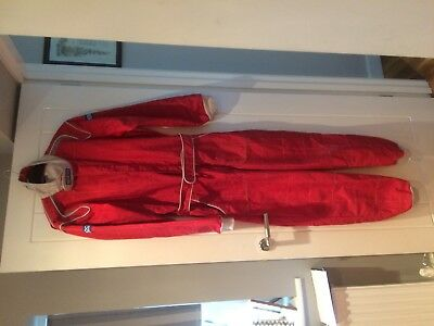 Sparco Red Adult Karting Overalls and Gloves