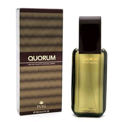 Quorum Cologne by Puig, 3.4 oz EDT Spray for Men NEW