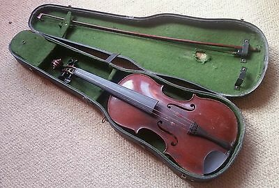 Vintage Violin and Bow in case.  The Maidstone