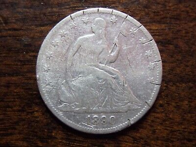 Scarce 1890 Seated Liberty Silver Half Dollar - Very rare low mintage coin