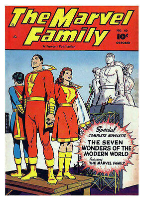 MARVEL FAMILY No. 40  -  Facsimile Comic