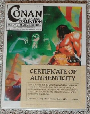 Conan Classics Collection Set One - Micheal Golden Portfilio 1989 SSOC Covers
