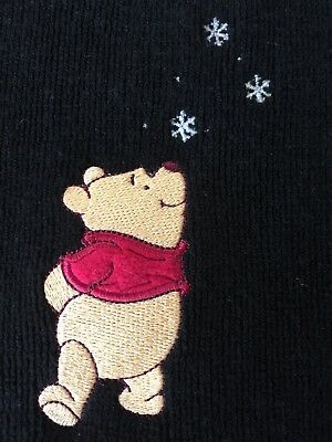 Ladies Disney Winnie The Pooh Soft Black Scarf