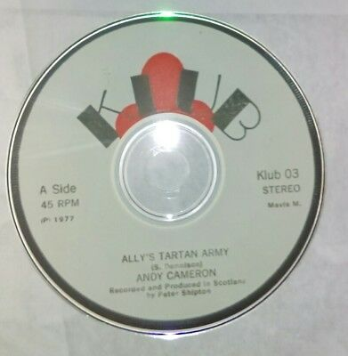 ANDY CAMERON  ALLY'S TARTAN AMRY and b side  I want to be a punk rocker ON CD