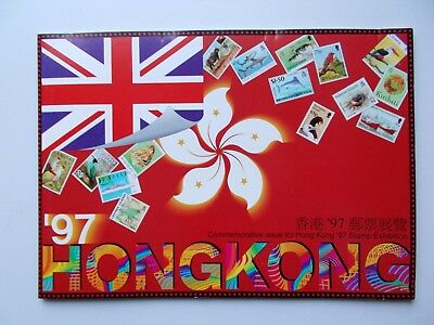 Hong Kong '97 Stamp Exhibition Presentation Folder of miniature sheets.