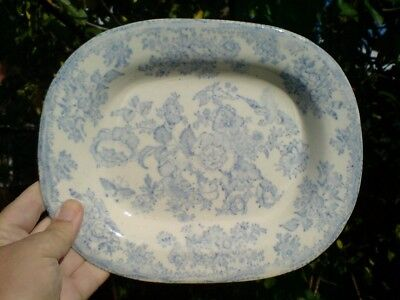 19th Century Blue and White Pattern Plate/Dish.