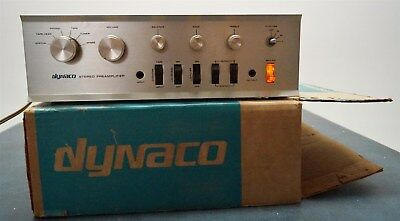Vintage 1967 Dynaco Pat-4 Solid State Control Center Preamplifier w/Box & Manual