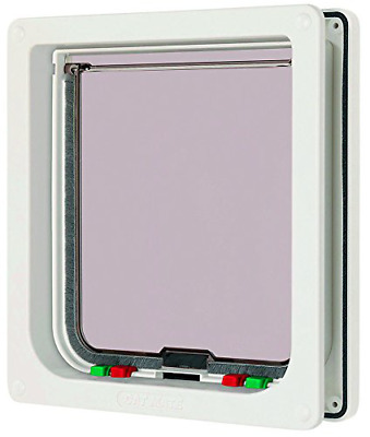 Large Glass Fitting Cat Flap Pet Mate Lockable Dog Door 4-way Locking Entry Exit