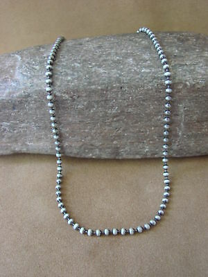 "Southwestern Jewelry Sterling Silver Chain Necklace 16"" Long x 1/8"""