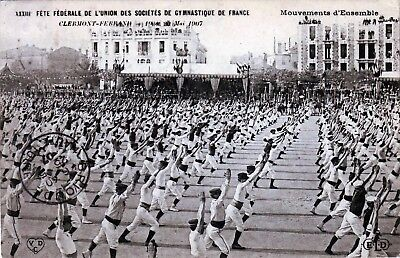 63 -- Clermont Ferrand - Fetes Federales  Tres Animee 1907