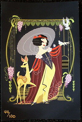 Gentle Wishes - Snow White - Lithograph & Super Jumbo Pin - Acme Le 100 - Disney