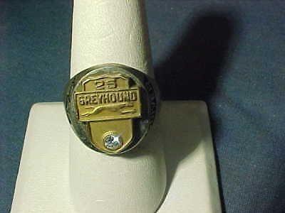 1978 STERLING Silver GREYHOUND BUS DRIVERS 25 Year SAFE DRIVER RING 10 1/2