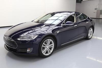 2014 Tesla Model S  2014 TESLA MODEL S 85 NAV REAR CAM HTD LEATHER 19'S 24K #P56013 Texas Direct