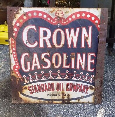 Vintage Crown Gasoline Sign