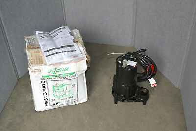 Zoeller M264 4/10 HP Automatic Submersible Sewage Pump 115V, 22 GPM @ 15 Ft Head