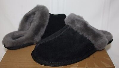 83d9544a912 UGG SCUFFETTE II Black Suede Slippers Shoes New With Box!