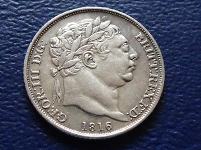 George Iii Sterling Silver Sixpence 1816 Nice Coin Great Britain Uk
