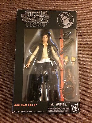 Star Wars Black Series Han Solo 6 inch Figure #08 Orange wave Hasbro 2013
