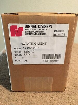 Signal Div. 121S-120R. Red rotating becon 120V
