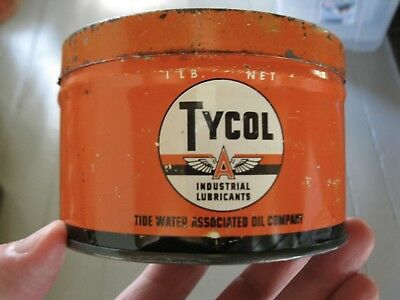 RARE Vintage Flying A TYCOL TYDOL Flying A  MOTOR OIL Tin Can - Nice !!