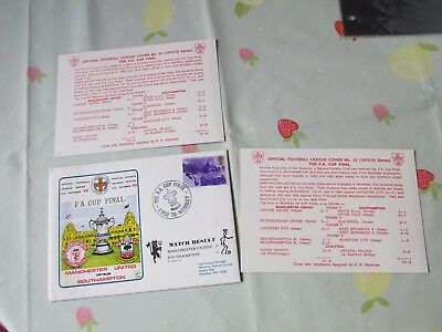 MANCHESTER United v SOUTHAMPTON 1976 FA Cup Final FOOTBALL First Day Cover