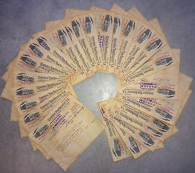 1956 BACARDI in CUBA x Set 25 check documents  CONSECUTIVE #s Bank Nova Scotia.