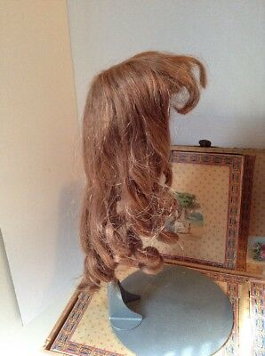 ~ Beautiful! Antique Style Vintage French HH Large Doll Wig ~