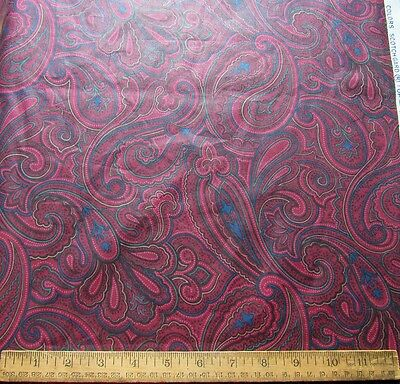 "3.5 Yards 56"" High Quality Burgundy Paisley Drapery Fabric by Atelier Originals"