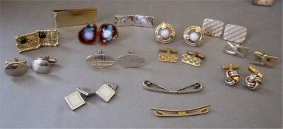 Collection of Mostly No Name Vintage Cufflinks, and Collar Bars