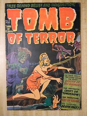 Tomb Of Terror #3 (Vg+) (4.5) 1952, Bondage Cover! Atomic Disaster Story!