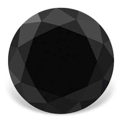 3.44 Ct Loose Black Round Cut Moissanite for Sale