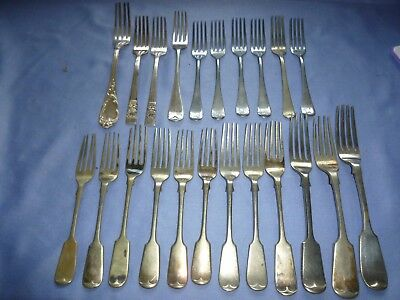 Job Lot Vintage Collectable  Cutlery Silver Plated  Etc Dinner Forks Inc Sets