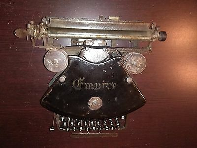 Empires Typewriter model 1, circa 1900, Williams Mfg. Co. Montreal, Canada