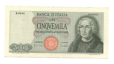 Italy 5000 lire Colombo 1° tipo 20 gennaio 1970 serie K86