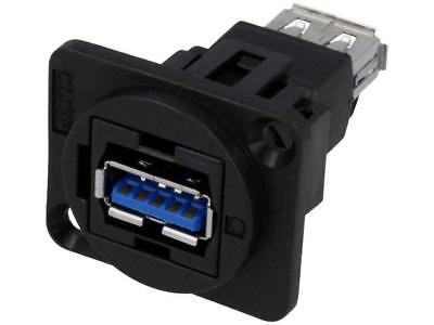 CP30205N Coupler USB 3.0 A socket, both sides FT 19x24mm CLIFF