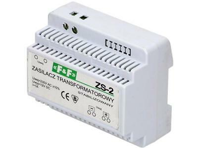 ZS-2 Pwr sup.unit transformer type 12VDC 1A 230VAC Mounting DIN F AND F