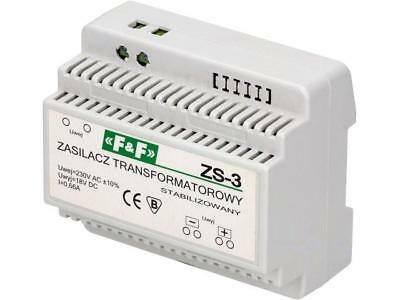 ZS-3 Pwr sup.unit transformer type 18VDC 0.66A 230VAC 550g F AND F