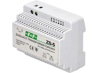 ZS-5 Pwr sup.unit transformer type 15VDC 0.8A 230VAC Mounting DIN F AND F