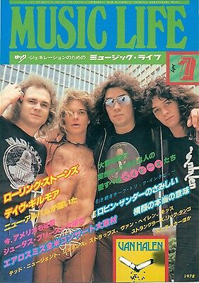 Van Halen David Lee Roth - Clippings From Japanese Magazine Music Life 1978