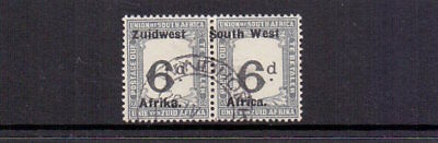 SOUTH WEST AFRICA 1924 POSTAGE DUE 6d BLACK & SLATE SGD20 FINE USED CAT £42