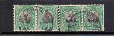 SOUTH WEST AFRICA 1927 ½d BLACK & GREEN SG58+58b FINE USED CAT £24.50