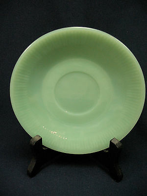 Vintage Jadeite Green Milk Glass Ribbed Jane Ray Saucer Fire-King Oven Ware