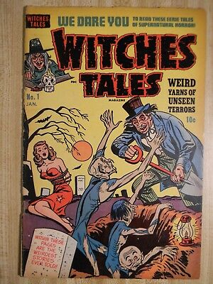 Witches Tales # 1 (Gd-) (1.5) 1951, Bob Powell, Rudy Palais Art!