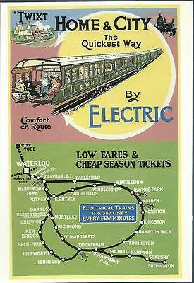Postcard Home and City by Electric Electrical trains Railway British GB