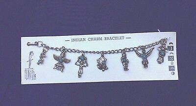 Authentic 50's Native American Style Charms Bracelet Original Card Route 66