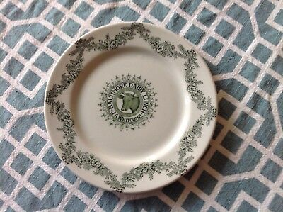 """Baltimore Dairy Lunch 7"""" plate w/ Cow J.A. Whitcomb -Grindley Hotel Ware England"""
