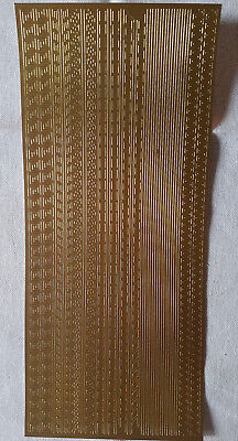 Peel-Off Stickers - Gold - Patterns Edging / Boarder
