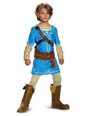 The Legend of Zelda LINK Deluxe Boy's Halloween Costume w/ Ears (Medium 8-10)