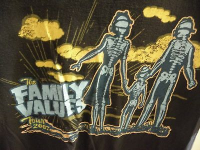 The Family Values 2007 Tour T-Shirt Korn Evanescence Flyleaf Hellyeah Trivium